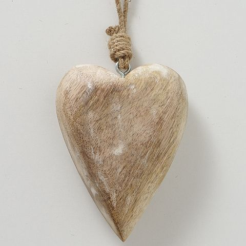 Dekoanhänger Herz, Herz, Hängevorrichtung, L 10,00 cm, H 15,00 cm