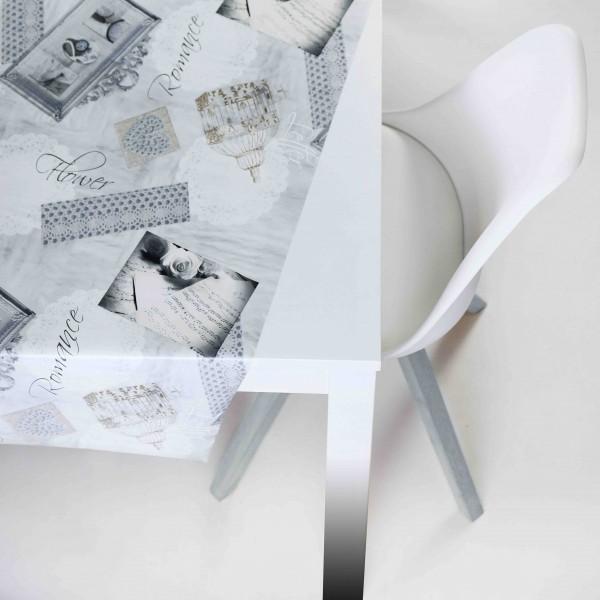 Tischbelag Vida Style Romance grey Meterware 140 cm