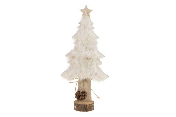 Tree with fur wood 14.5x6x31cm