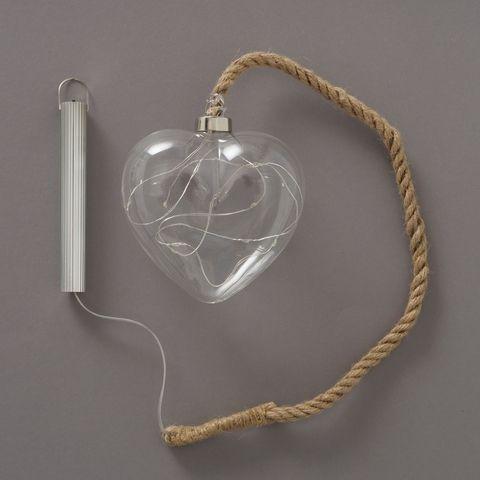 Dekoanhänger Blinker, Herz, LED, L 12,00 cm, H 60,00 cm
