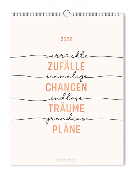 Wochenkalender 2022 ZufŠälle - Chancen FSC