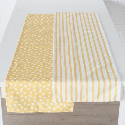 Tischläufer Sunny, 2 sort., L 140,00 cm, Gelb, 100% Polyester