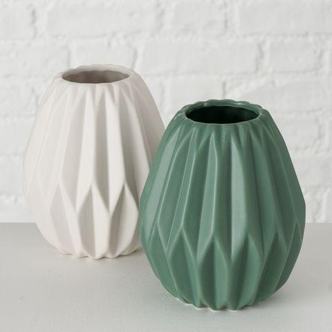Vase Tampa, 2 sort., H 14,00 cm, Steingut