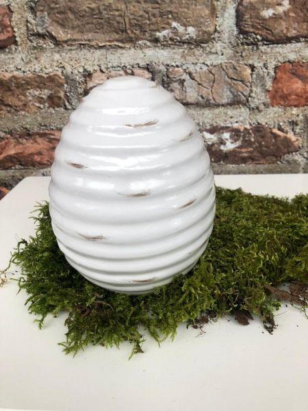 Keramik Eier Höhe 20cm D16