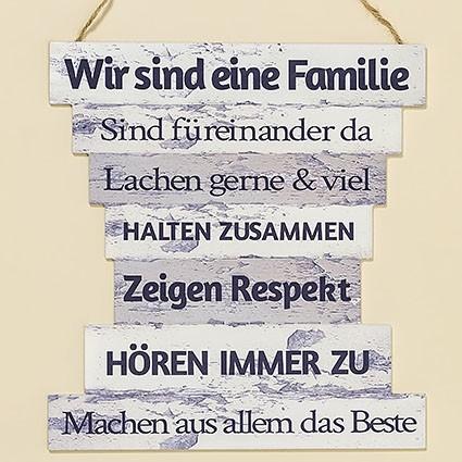 Schild Family aus MDF