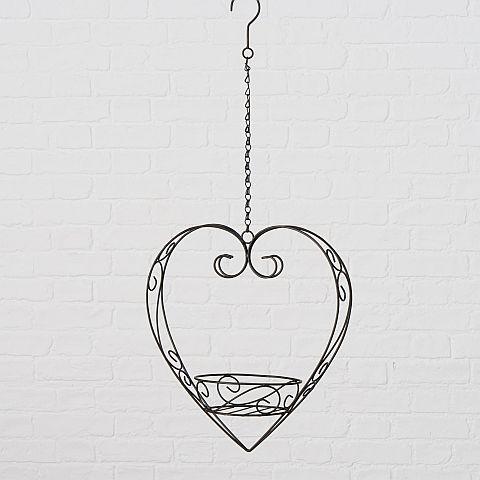 Pflanztopfhalter Mary, H 37 cm, Eisen, Dunkelbraun Eisen dunkelbraun