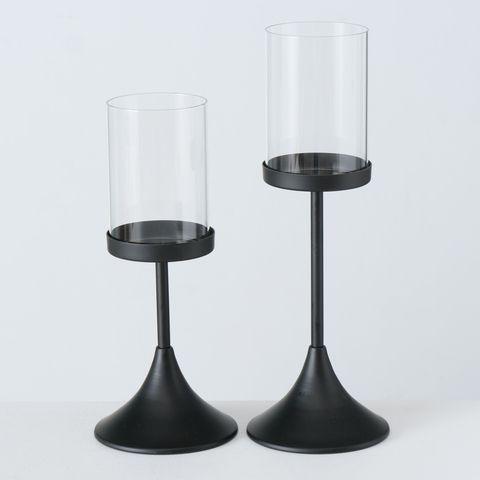 Windlicht Nouveau, H 33,00 cm, Eisen pulverbeschichtet, Meh