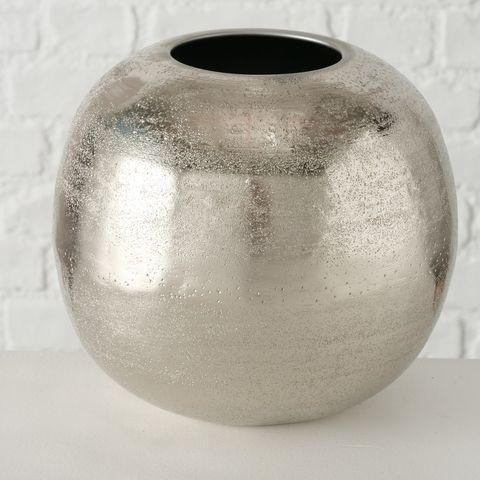 Vase Carlie, Deko, H 19,00 cm, Aluminium, Einfarbig