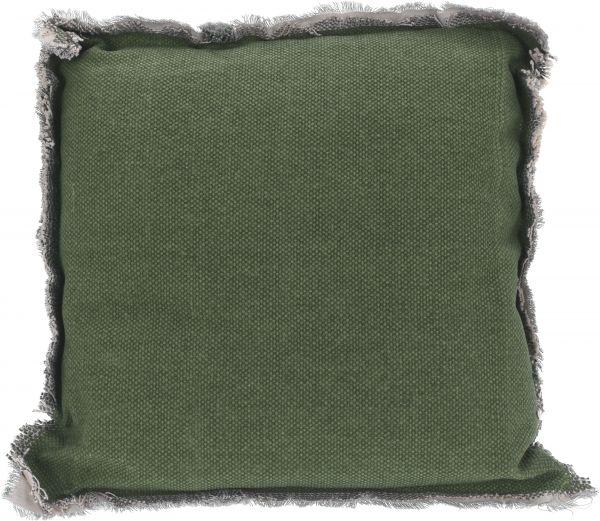 Kissen grün 40X40X8CM 100% Baumwolle, Füllung 100% Polyester