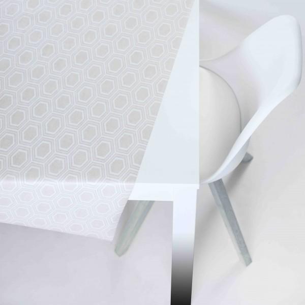 Tischbelag Vida Style Plus Octa beige Meterware 140 cm