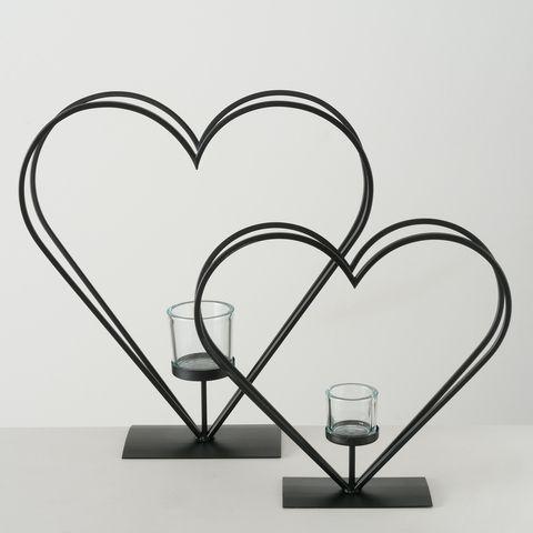 Windlicht Judy, H 47,00 cm, Eisen pulverbeschichtet, Klargl