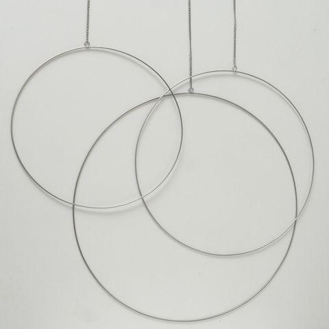 Dekoanhänger Rumba, Rund, L 52 cm, D 50 cm, Eisen Menge im Set: 1; Eisen silber