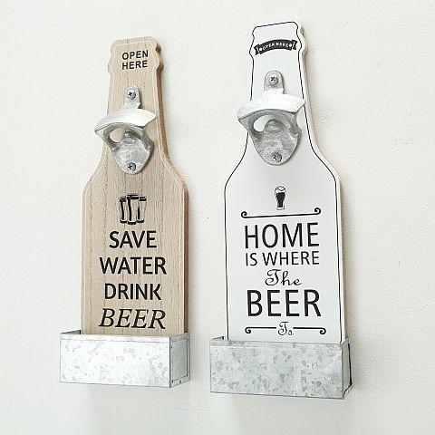 Flaschenöffner Larry, 2 sort., Flasche, H 30,00 cm, L 10,00 cm