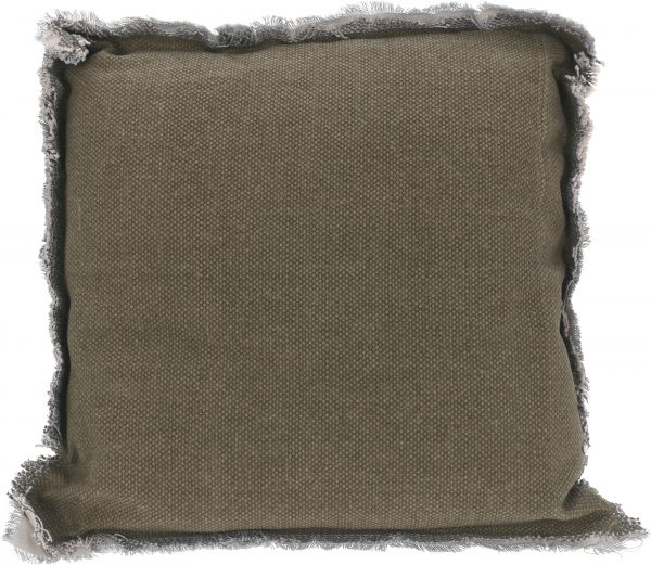 Kissen grau 40X40X8CM, 100% Baumwolle, Füllung 100% Polyester
