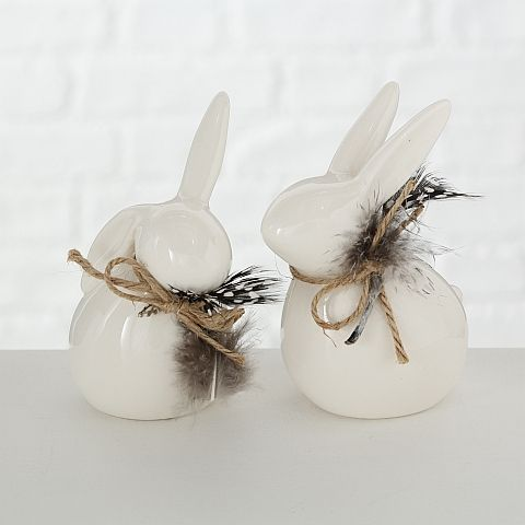 Figur Hoppy, Hase, H 11 cm, Porzellan, Weiß