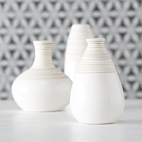 Vase Matts 3sort H10-13cm Steingut