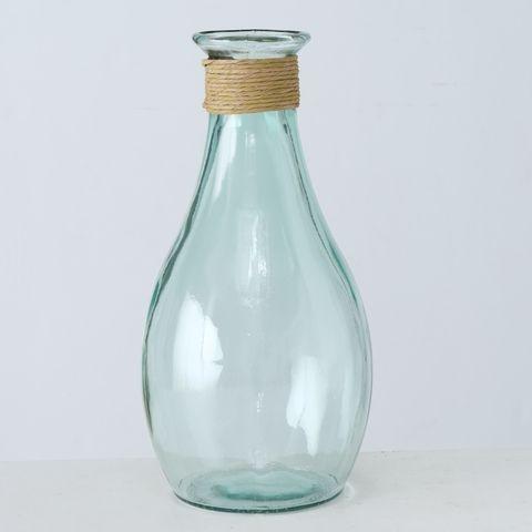 Vase Nellia, H 40 cm, Klarglas, Transparent Glas