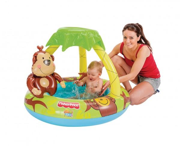 Babyplanschbecken Kinder Pool Schwimmbecken klein 102 x 20 cm Fisher Price 16202