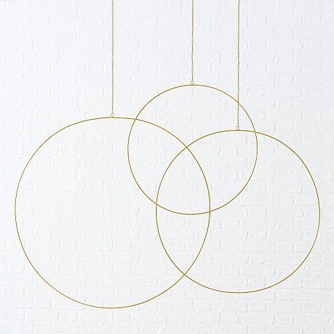 Dekoanhänger Rumba, Rund, H 75 cm, D 75 cm, Eisen gold
