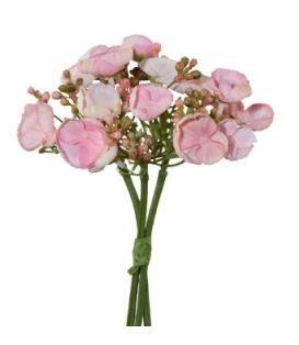 Wildhortensienbündchen 20cm rosa
