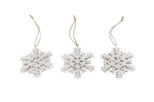 Metal snowflake 7x1cm 10pc