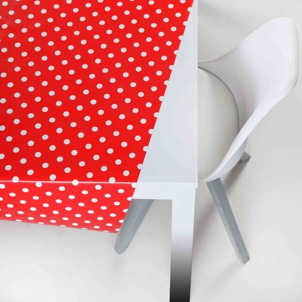 Tischbelag Vida Style Polka red Meterware 140 cm