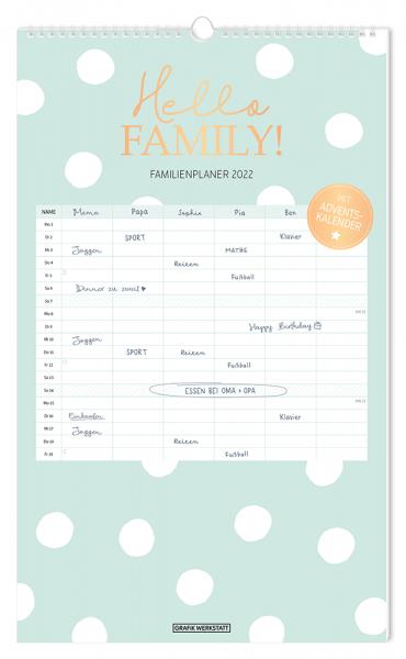 Familienplaner 2022 Hello Family! FSC
