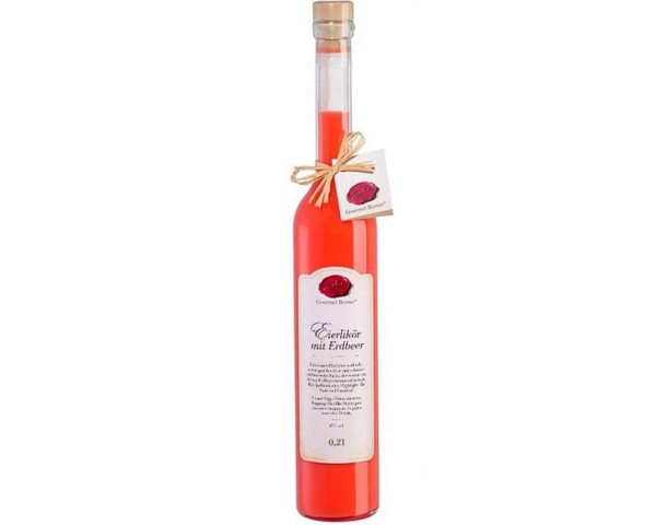 Eierlikör mit Erdbeere, 15% vol., 0,2l