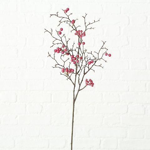 Dekozweig Jolana, Indoor, H 75 cm, Plastik, Rosa Kunststoff rosa