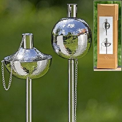 Gartenfackel Keanu 2s H150cm Edelstahl