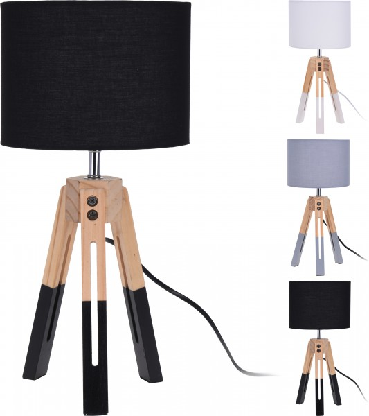STEHLAMPE HOLZ WEISS
