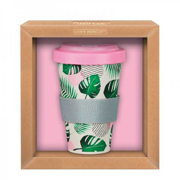 Premium Bamboo-To-Go-Becher Tropical