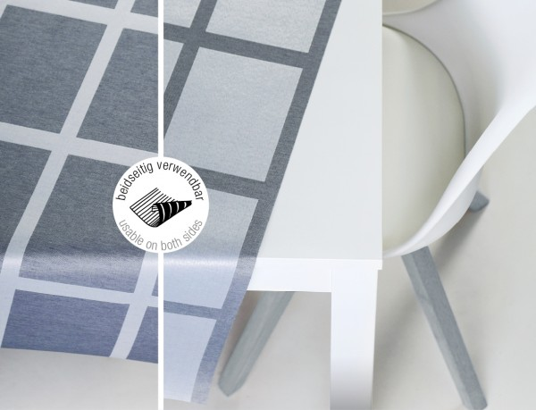 Tischbelag VidaTex Royal Karo grau Meterware 140 cm