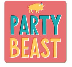 Korkuntersetzer Party Beast