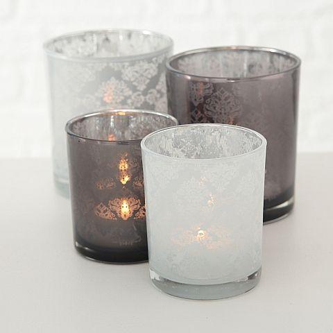 Windlicht Loya, 2 sort., Glas lackiert