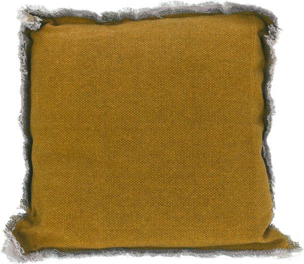 Kissen gelb 40X40X8CM, 100% Baumwolle, Füllung 100% Polyester