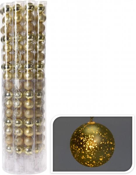 WEIHNACHTSKUGEL 4CM 16STK GOLD