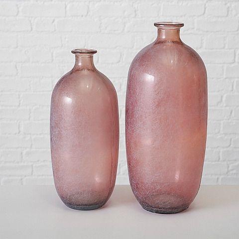 Vase Alicia H38cm,Glas Lackiert,Rosa