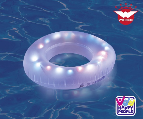 LED Schwimmring Badering Strand Luftmatratze Badeinsel 81 cm Erwachsene