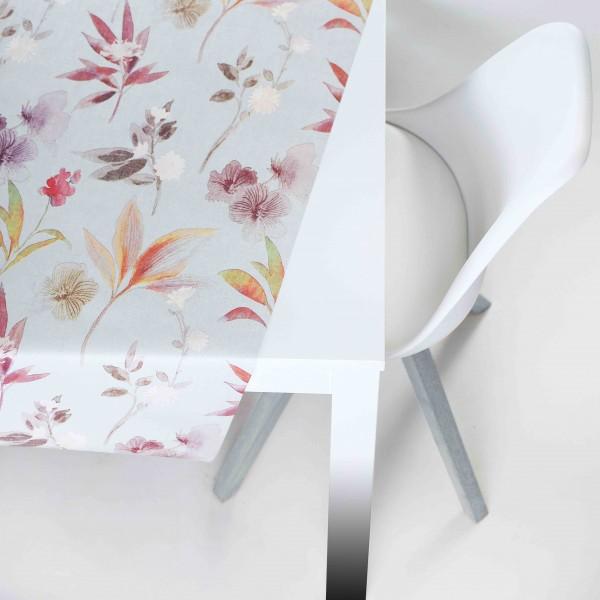 Tischbelag Vida Style Plus Flora grey Meterware 140 cm