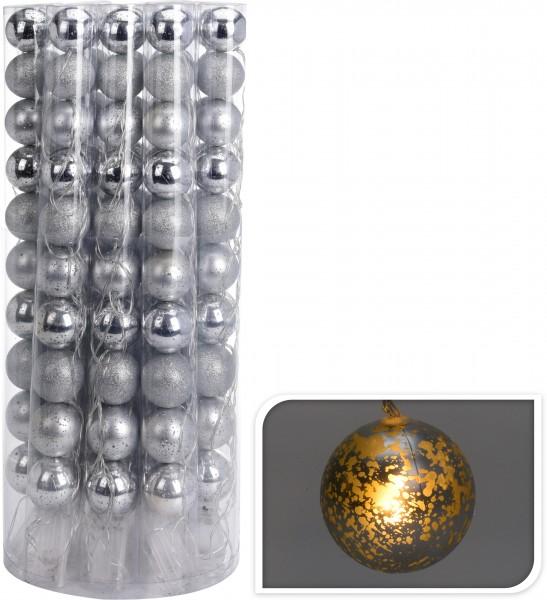Lichterkette Weihnachten LED Kugeln warmweiß 6 cm