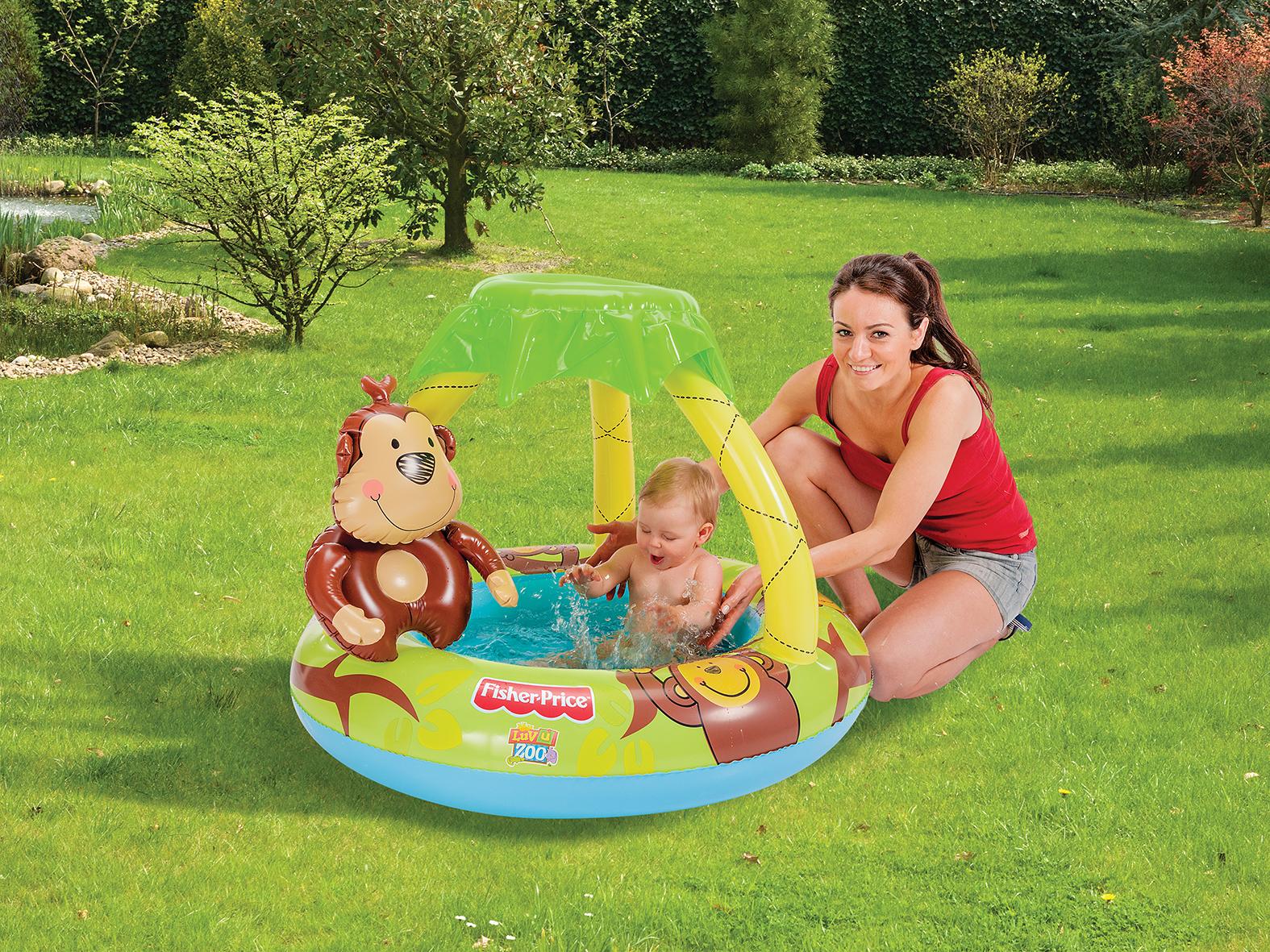 fisher price babyplanschbecken kinder pool schwimmbecken klein 102 x 20 cm vida home der. Black Bedroom Furniture Sets. Home Design Ideas