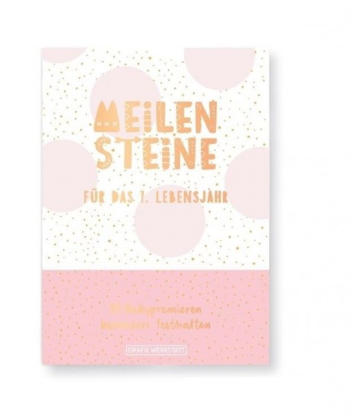 Meilenstein-Box für das 1. Lebensjahr (Mädchen)