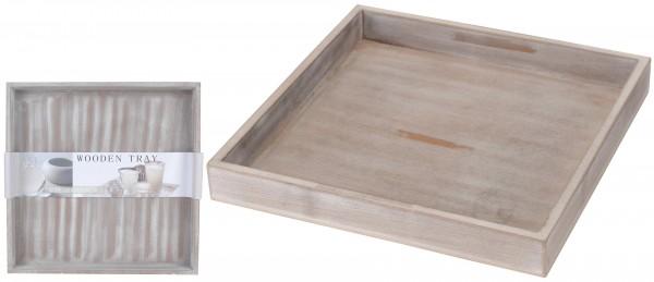 TABLETT 30X30CM GRAU HOLZ