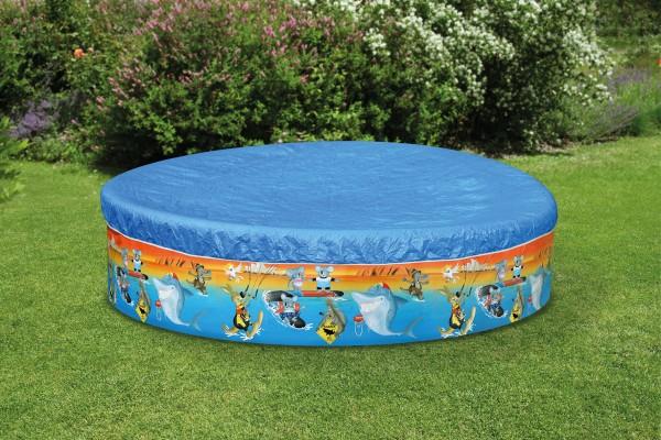 Abdeckplane Abdeckung Pool Wehncke Bestway Intex Pool rund 240-260 cm