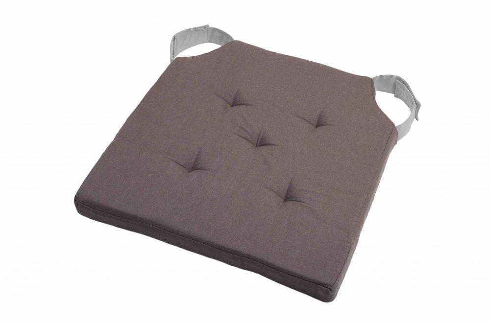sitzkissen stuhlkissen dekokissen kissen mit klettband 38x38x4 5 cm grau ebay. Black Bedroom Furniture Sets. Home Design Ideas