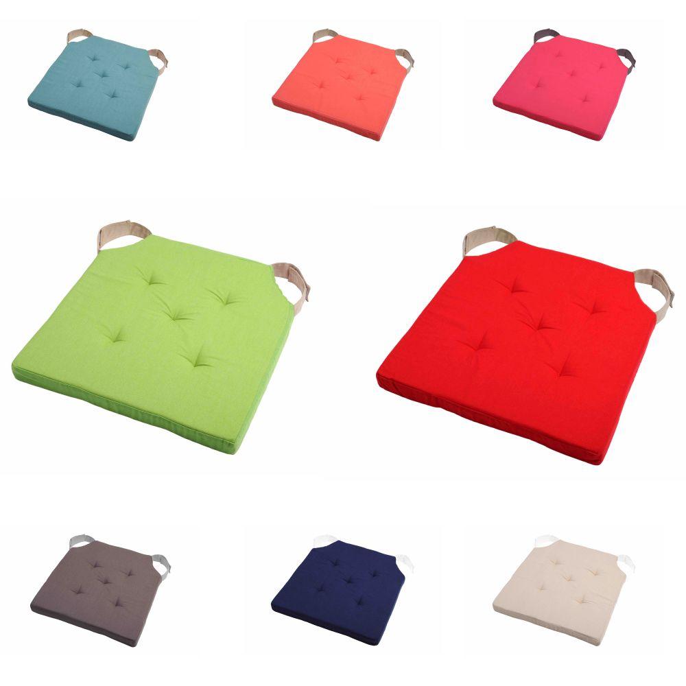 sitzkissen stuhlkissen kissen 38x38x4 5 cm mit klettband wohnung garten deko ebay. Black Bedroom Furniture Sets. Home Design Ideas